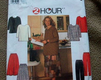 Simplicity 7741 Plus Size skirt, pants and tunic  Sewing Pattern