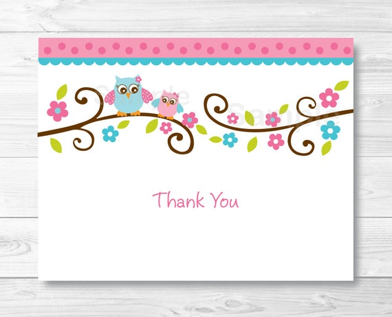 Adorable image intended for printable thank you card templates