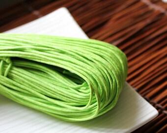 Cotton Cord, Craft Cord, Waxed Green Cotton Cord, Beading Cord x 6 Feet (1.5mm)