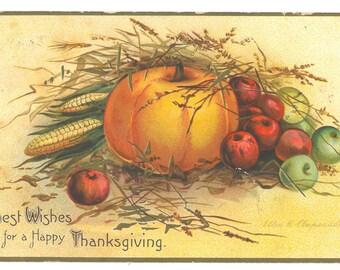 Vintage Ellen H. Clapsaddle Thanksgiving Postcard