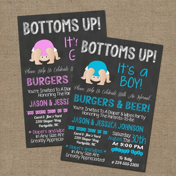 Bottoms Up Baby Shower Diaper Party BBQ by WorldOfThought ...