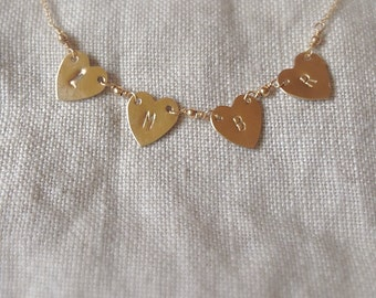 Heart banner necklace
