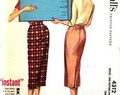 Long Pencil Skirt Waist 26 McCalls 4312