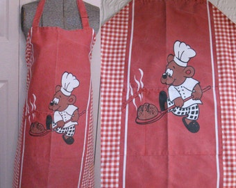 BBQ Apron . German BBQ apron .  Retro BBQ Apron . cartoon apron