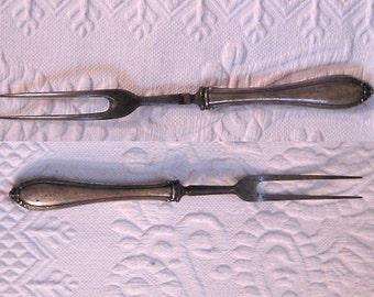 Sterling Serving Fork . Carving Fork . serving fork