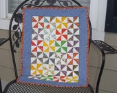 Hand Quilted Pinwheel Doll Quilt