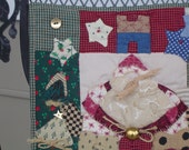 Tiny Hand Pieced Hand Quilted Santa Claus Quilt