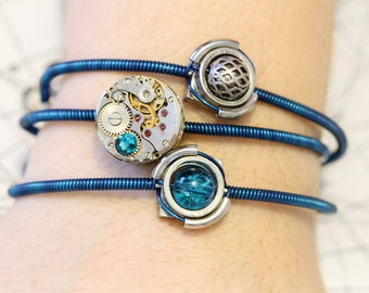 Cybersteam - 3 Bracelets - Aqua