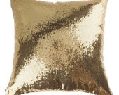 GOLD or SILVER SEQUIN Pillow Covers Pillowcase Gold, Silver,  Colors Throw Pillow -lumbar pillow - European sham - Bedroom Accent - Wedding