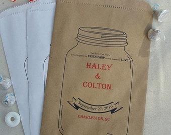 Wedding Favor Bags  -Wedding Favor Rustic - Wedding Favors - Favor Bags - Candy Buffet Bags - Paper Bags - Wedding Favors Country