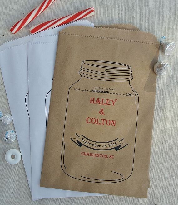 Wedding Favor Bags - Wedding Favors - Favor Bags - Candy Buffet Bags - Mason Jars - Candy Bags - Rustic Wedding - Country Wedding -