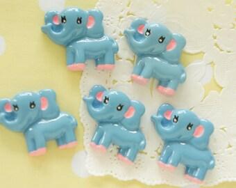 5 pcs Kawaii Baby Elephant Cabochon ( 21mm27mm ) DR489 (((LAST)))