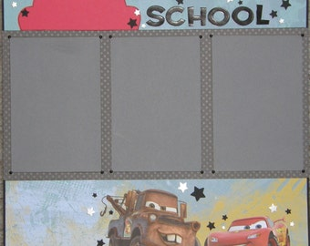 CLEARANCE 12x12 Single Page Scrapbook Layout Back to School