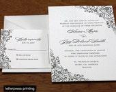 Zena Letterpress or Digital Wedding Invitations - Set of 100