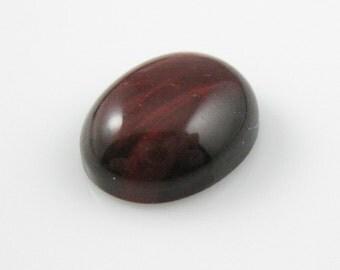 Loose Gemstones,Cabochon Gemstone,Semi Precious Gemstones-Gemstone Cabochon-Red Tigger Eye-Oval Shape,Grade A+ 12 by 10mm-SKU:308103-RTE-10