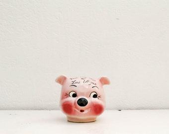 vintage ceramic piggy bank 'for my trip to vegas'