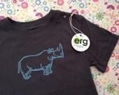 SALE...Rhino T, Asphalt Grey, Screen Printed, Toddler Sizes