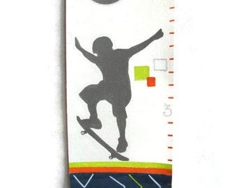 Modern Skateboarder Xtreme Sports Canvas Growth Chart