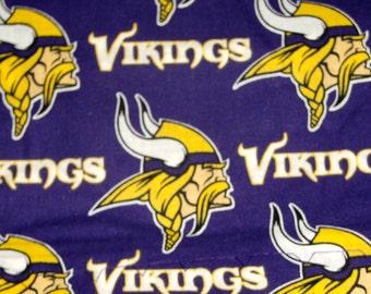 Cotton Pillowcase with MN Vikings Print