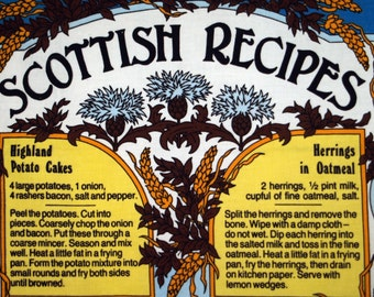 Vintage Scottish Linen Towel Recipes