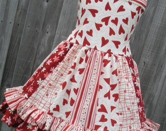 Ready to Ship Custom Boutique Hearts Flirtations Girl Valentine Dress size 6  7