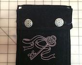 Embroidered Skeleton Key Belt Pocket —Ready to Ship!