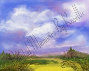 BIG SKY  11x8.5 Instant Download Original Digital Painting