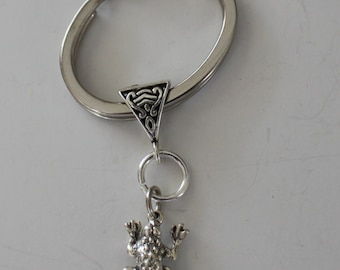 Sterling 3D FROG Key Ring - Key Chain - Reptile, Garden, Nature, Pet
