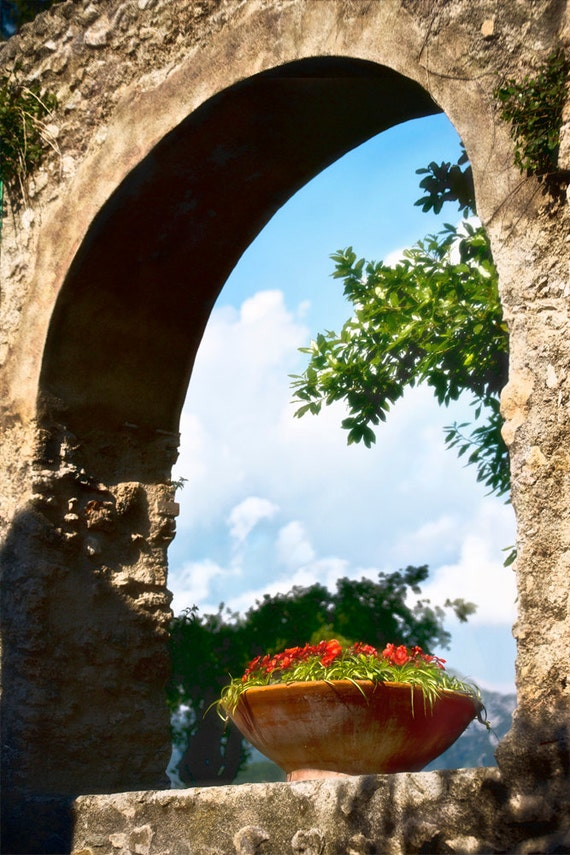 Arch with Flowers  Archival Print