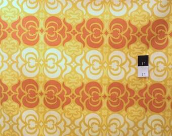 Amy Butler AB23 Midwest Modern Garden Maze Mustard Cotton Fabric 1 Yard