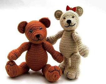 2 amigurumi bears Alaska, PDF crochet pattern animal tutorial file by Katja Heinlein teddy stuff toi plushie digital teddie ebook