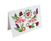 Plantable Mother's Day Card - seeded paper