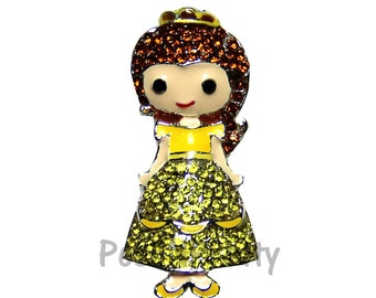 NEW 1.25 inches ONE Character Sparkle Flat back Center - BLINGED Belle