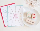 Handcrafted Vintage Cupid Arrow Rubber Stamp Set - Perfect for Save the Dates Scrapbooks Favors Travel Journals Photo Albums