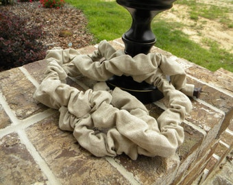 Lamp/ Chandelier Linen Cord Cover - 112 inches - over 9 feet - Weddings, Home Decor