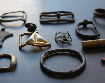 Vintage Scrap Destash for Assemblage, Found Items, Brass, Iron, Steampunk Supplies, Jewelry Supplies