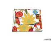 Yellow Flower Social Butterfly Mini Pocket Jewelry Pouch