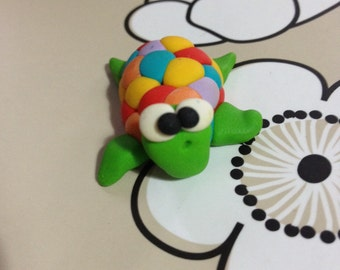 Turtle Little Polymer Clay Creation by bdbworld on Etsy  No 3