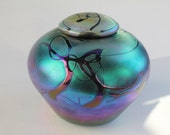 Loved Pet Urn - Rainbow Glass - Very unique one of a kind - Free Shipping
