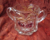 Northwood cherry sugar bowl  Cherry and cable