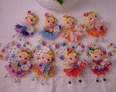 Sweet Little Flower Fairy Ornaments