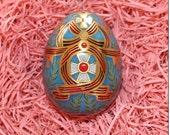 England Metal Easter Egg Box 2 3/4 Inch Russian Design Craft Storage  TEG 19