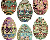 Self Adhesive Easter Eggs Stickers 1 Sheet Colorful Scrapbooking Stickers  Number 99
