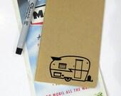 Moleskine Cahiers Journal - Vintage Shasta Travel Trailer - Travel Pocket Journal - Canned Ham - Shasta Camper - Caravan - Mileage Book