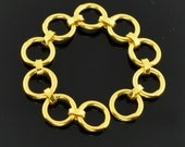 """5mm 18k Solid Yellow Gold Chain Extender 2"""" Long"""