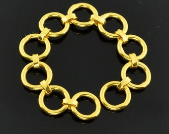 "5mm 18k Solid Yellow Gold Chain Extender 2"" Long"