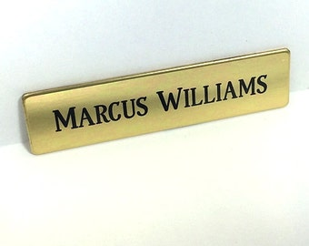 Engraved Brass,Engraved Name Tag,Solid Brass Tag,Personalized Name Tag