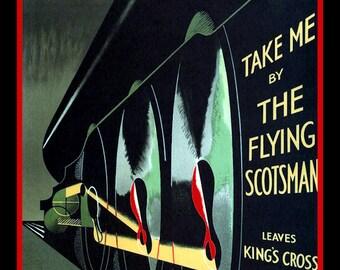 Flying Scotsman Steamtrain Refrigerator Magnet