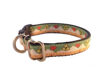 Legend of Zelda inspired breakaway cat collar, and regular dog collar