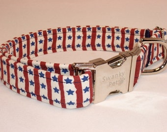 Stars and Stripes - Patriotic Dog Collar by Swanky Pet